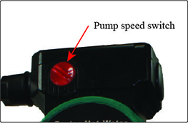 Image of water pump circulator speed switch