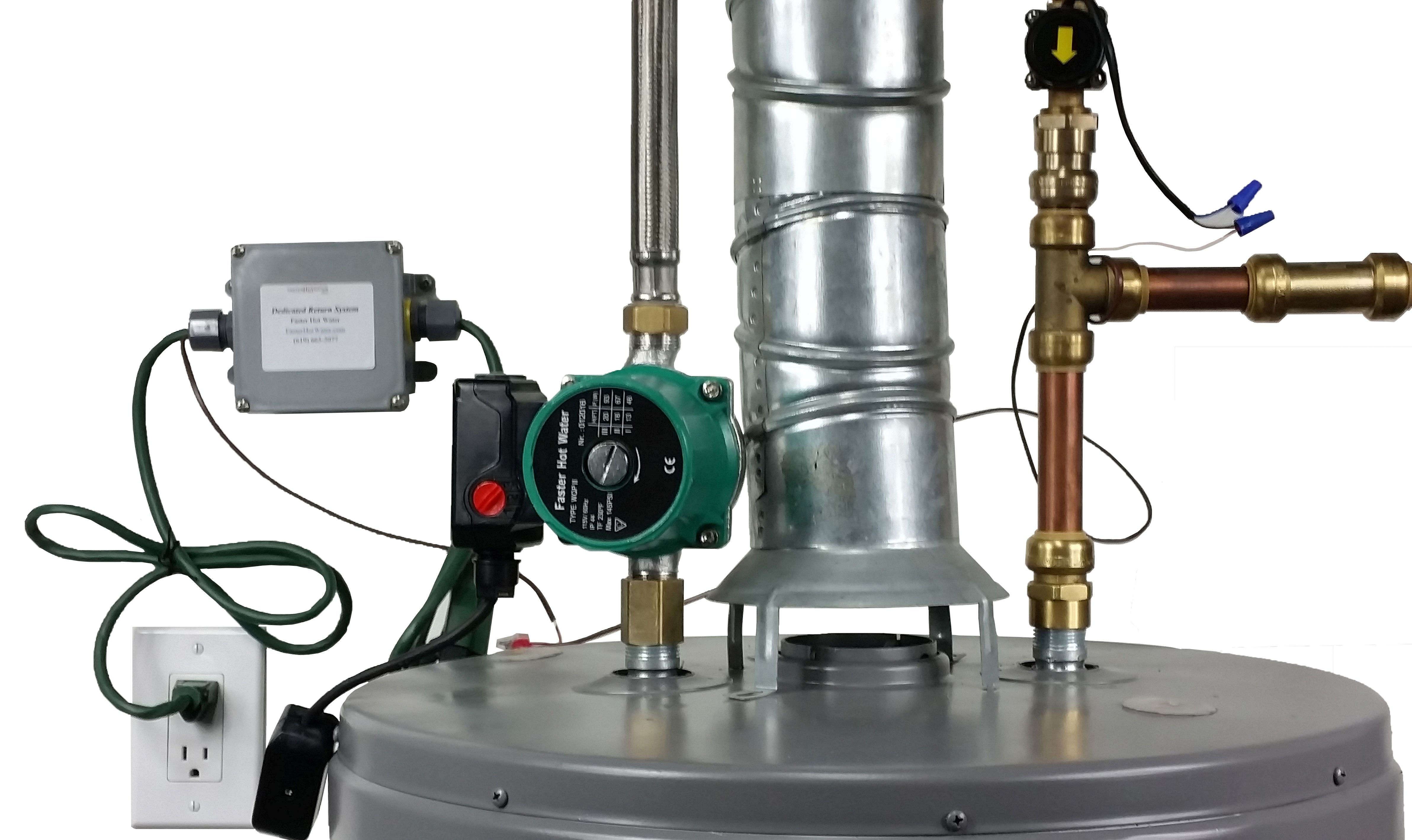 Image of a tank water heater