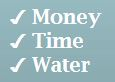Money, time, water graphic