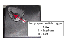 Circulation pump toggle switch
