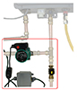 Hot water recirc system for tankless water heaters with hot water recirc lines