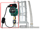 Hot water recirc system for traditional tank style water heaters with dead-end plumbing lines